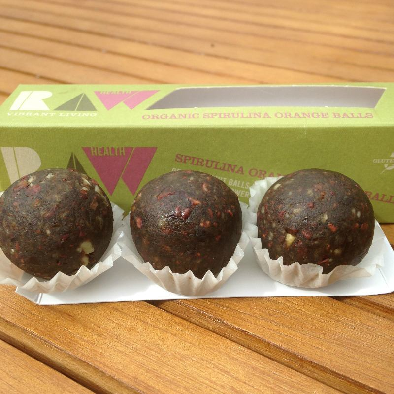 raw health organic spirulina orange energy balls - lylia rose food lifestyl