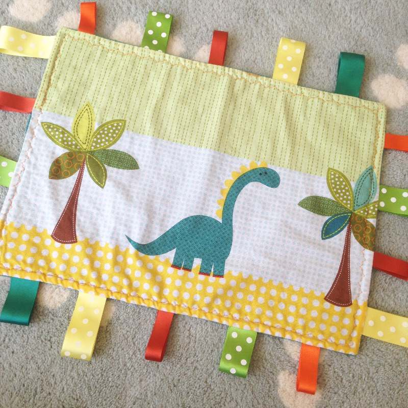 the penguin shack handmade dinosaur taggie blanket - lylia rose lifestyle b