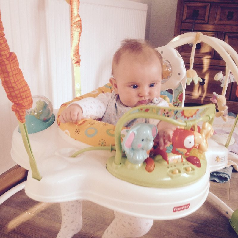 reuben baby photo jumperoo sunny - lylia rose lifestyle uk blog - july roun