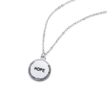 Hope Engraved Circle Necklace