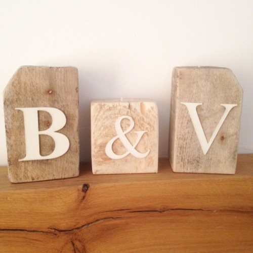 pure pallets handmade initial candle blocks reclaimed wood the made by me company