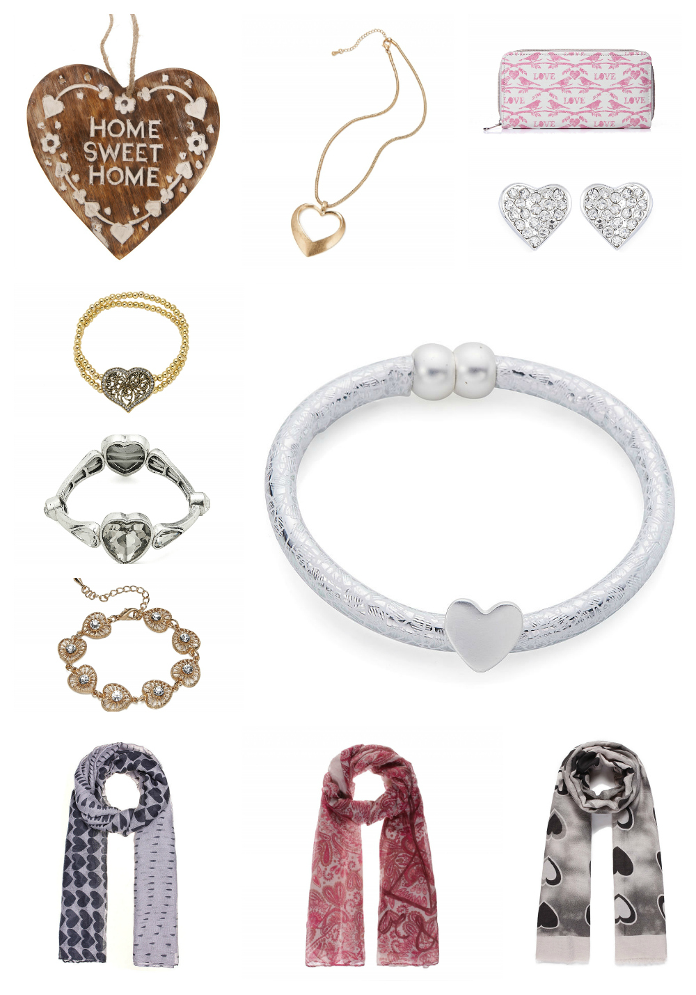 lylia rose valentines heart themed fashion accessories jewellery & gift