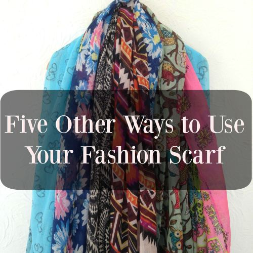 five other ways to use your printed scarf