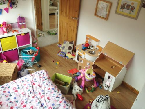 Are you surviving half term?  A typical half term scene in Bella's bedroom.  Arg!