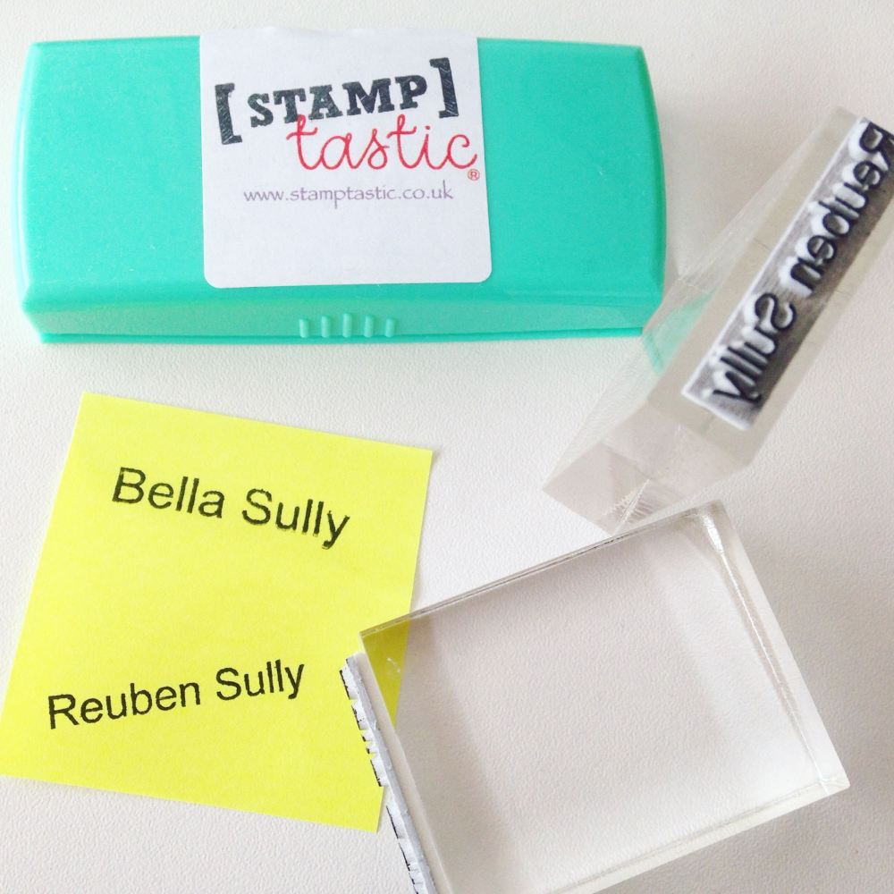 lylia rose blog review stamptastic personalised stamps work on any material