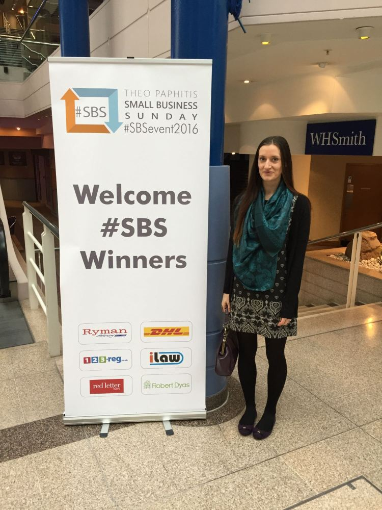 Victoria Sully from Lylia Rose, Gloucester, Meets Theo Paphitis at the SBS Event 2016