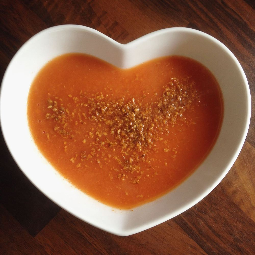 homemade sesame sprinkle crunch vegetable soup food blogger uk
