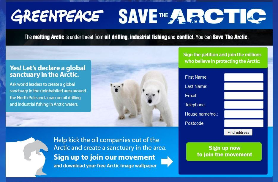 Help Save The Arctic Sign a Petition