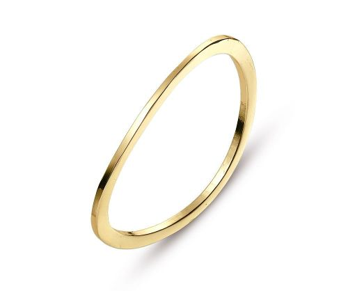 Wavy Gold Simple Bangle