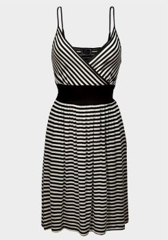 Size M Black & White Stripey Strappy Dress
