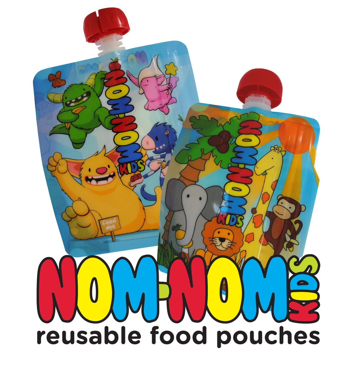 Nom Nom Kids Reusable Baby Food Pouches
