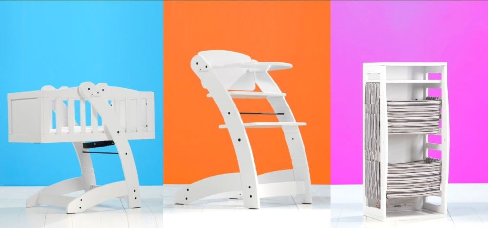 Ninna Nanna MULTY 4 in 1 crib high chair storage system for baby