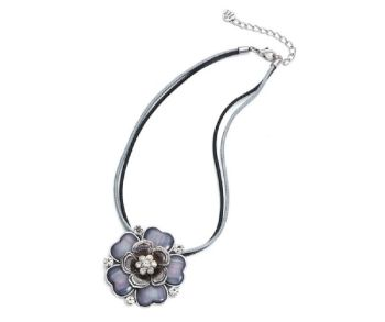 Grey Flower Necklace