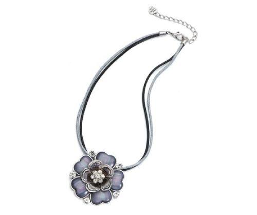 Grey Flower Necklace