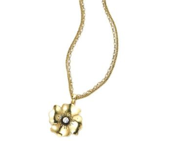 Antique Gold Flower Necklace