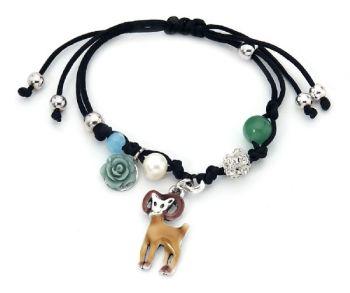 Cute Deer and Charms Adjustable Bracelet