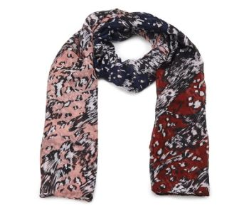 Red Abstract Animal Print Oversized Lightweight Fashion Scarf