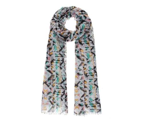 Multicolour Native Print Oversized Lightweight Fashion Scarf