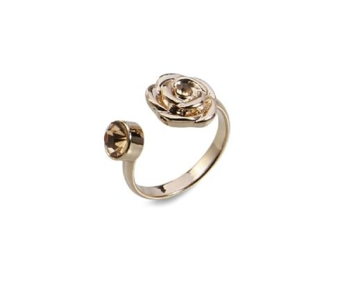 14ct Rose Gold Plated Rose Flower Ring