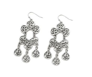 Antique Silver Effect Chandelier Earrings