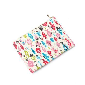 Colourful Fun Fishes Fully Lined Canvas iPad Zip Case