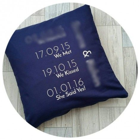 WonderStreet Personalised Anniversary Cushion Gift Idea Christmas Lylia Ros