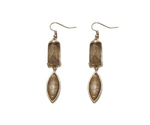 Boho Dangle Resin Stone Earrings