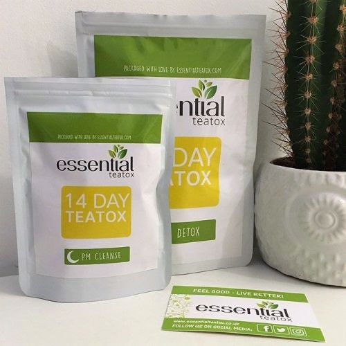 Essential Teatox 14 day tea detox review on lylia rose lifestyle natural be