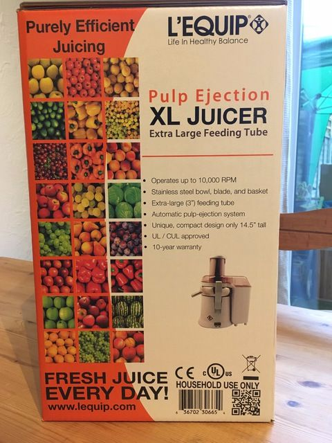 Steamer Trading Blog Review LEquip 215 XL Juicer Lylia Rose food juicing gr