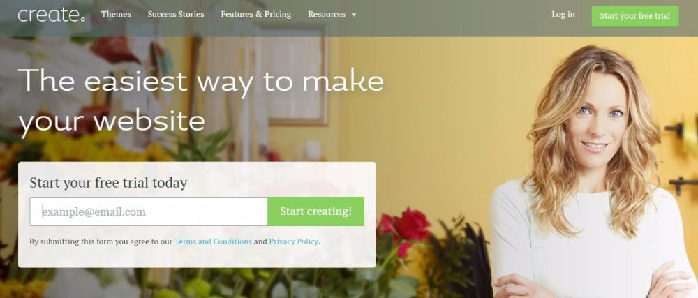 create your own website with a free trial from create ecommerce blog builde