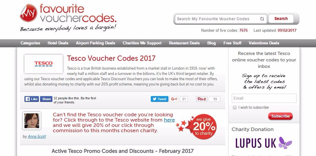 my favourite voucher codes tesco discount promo active money off blog lylia