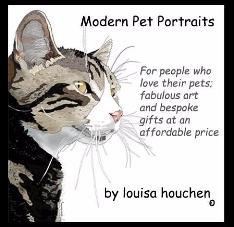 Modern Pet Portraits by Louisa Houchen