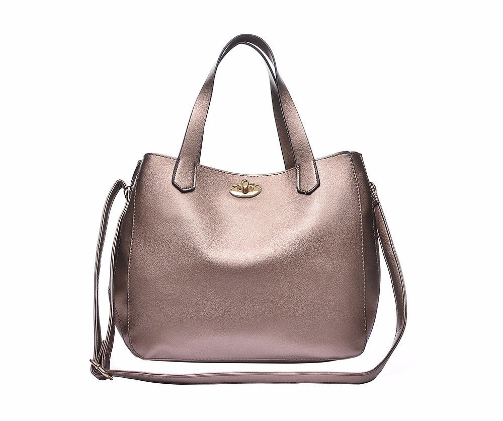 win a metallic brown shopper handbag lylia rose march 2017 giveaway prize