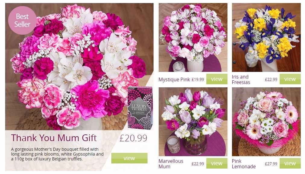 bunches co uk mothers day flowers by post lylia rose gift guide cheap