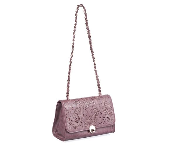 Win a small purple lylia rose floral cut handbag with chain strap in a blog