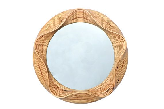 Etsy Editors Picks Interior Design Trends handcrafted wooden circle mirror