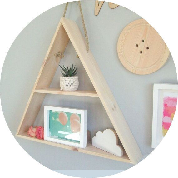 Etsy Editors Picks Interior Design Trends Triangle shelf