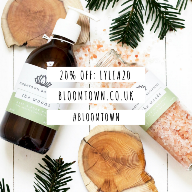 LYLIA20 bloomtown discount code natural beauty 20 percent off active blogge