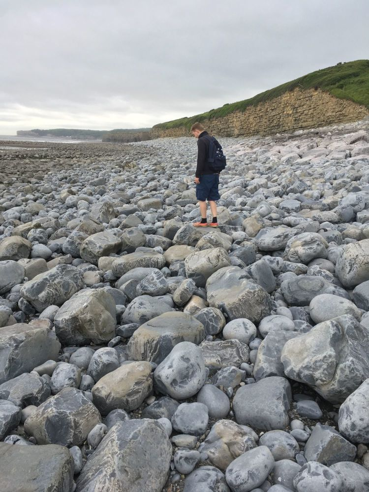 A Kid Free Camping Trip to the Vale of Glamorgan - llantwit major rocky bea