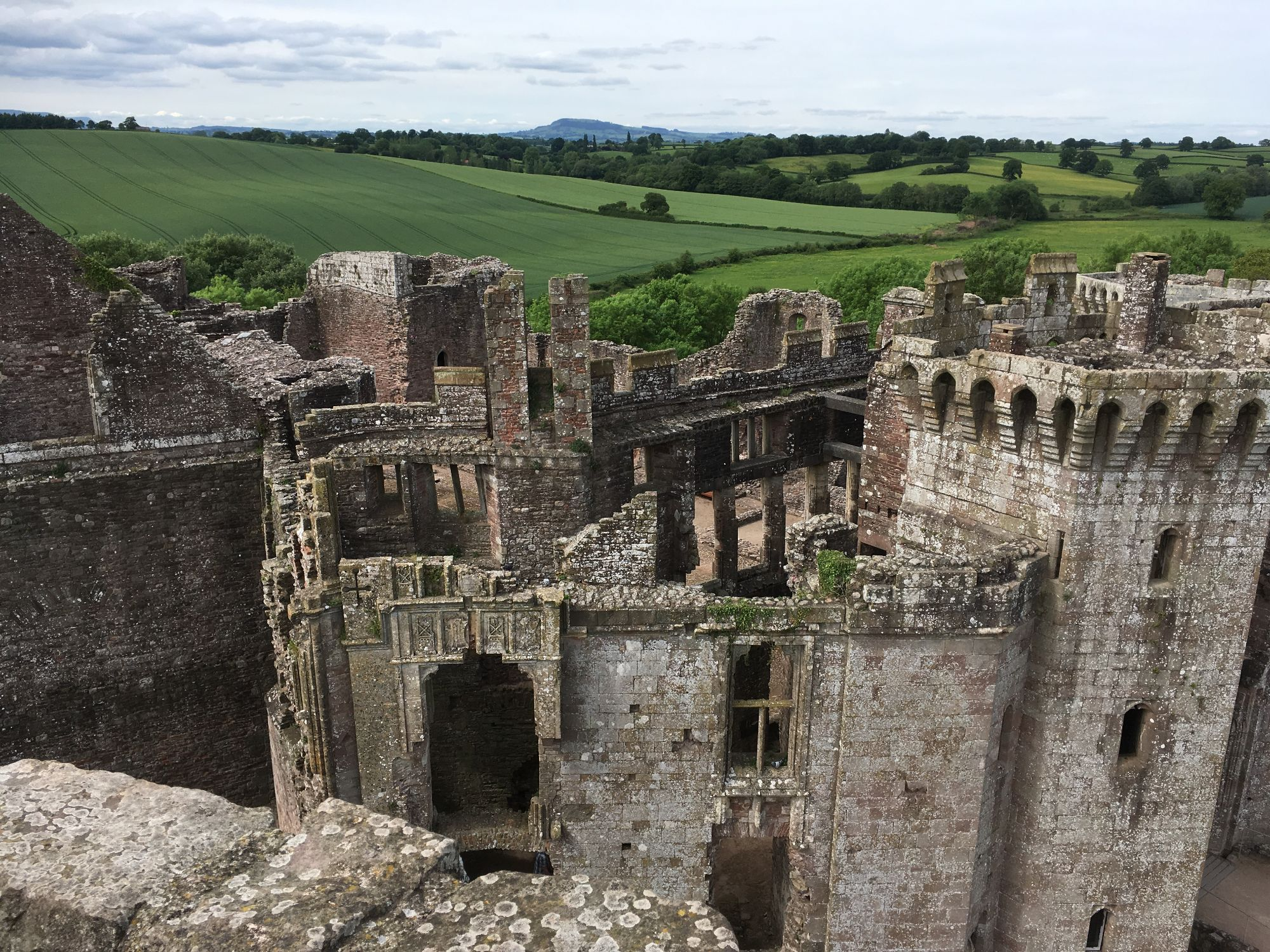 A Kid Free Camping Trip to the Vale of Glamorgan - raglan castle ruin wales