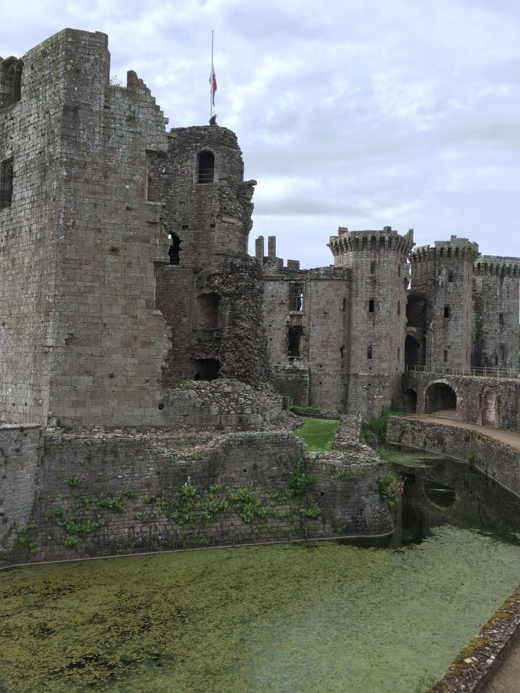 A Kid Free Camping Trip to the Vale of Glamorgan - raglan castle ruins tudo