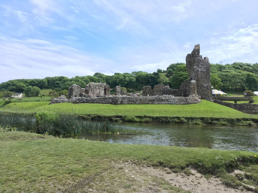A Kid Free Camping Trip to the Vale of Glamorgan - ogmore castle ruin wales