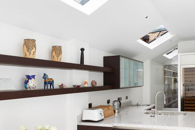sloping roof kitchen Unusual kitchen spaces a peek at some tough kitchen de