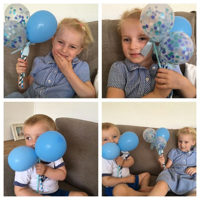 Beautiful Blues Balloon Pops by Poppies for Grace Lemonade Occasions Party