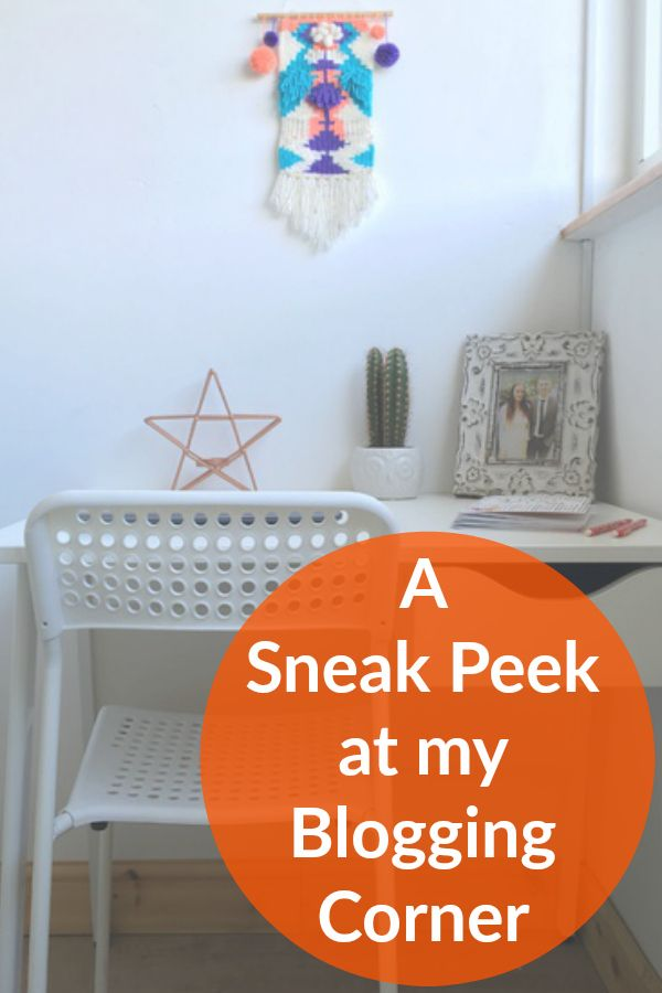 A sneak peek at my new dedicated bedroom blogging space - My minimal inspir