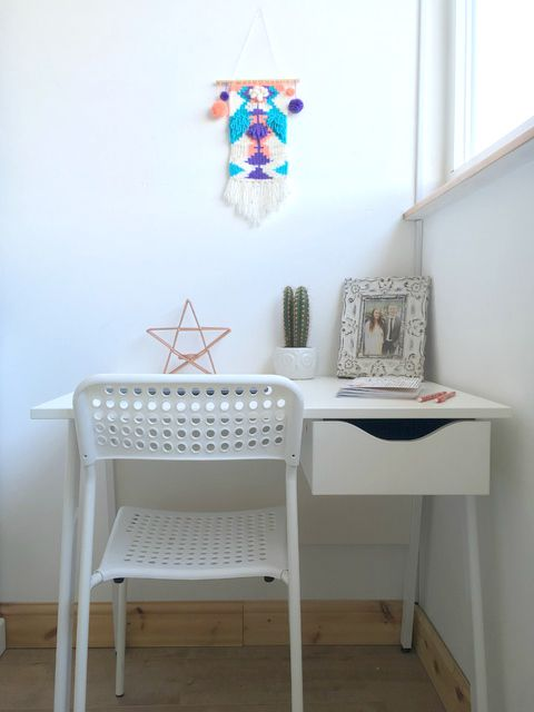 sneak peek at my new bedroom minimal blogging space design with desk from k