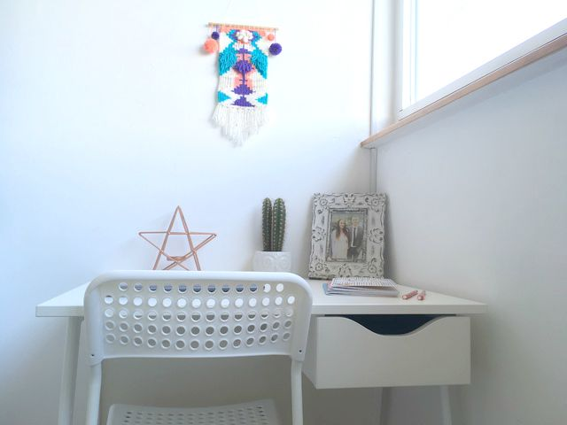 sneak peek at my new bedroom minimal blogging space with desk from kit out