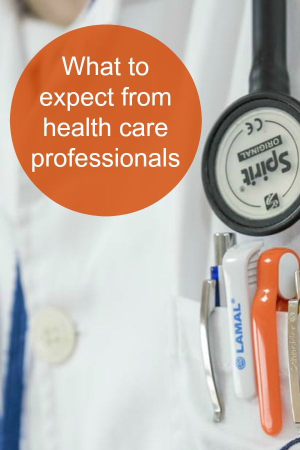 What to expect from health care professionals pin