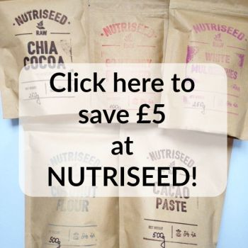 Save £5 at nutriseed with this discount promo code