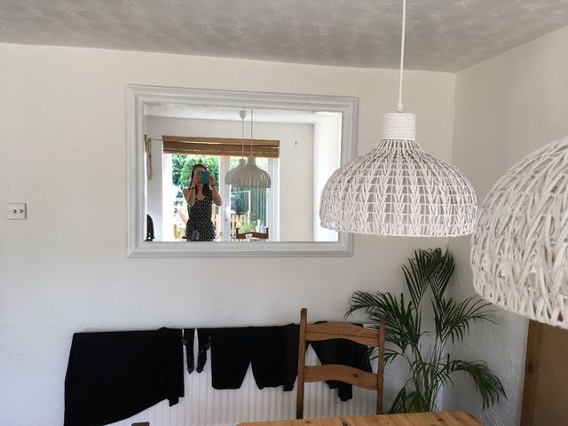 Upcycled White Mirror Ikea - Lylia Rose Monthly Family Roundup What we got